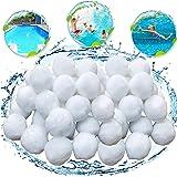 KATELUO 700g Boules de Filtre de Piscine, Balles Filtrantes,Média Filtre à Fibres pour Piscine Filtres à Sable Filtrage de l'