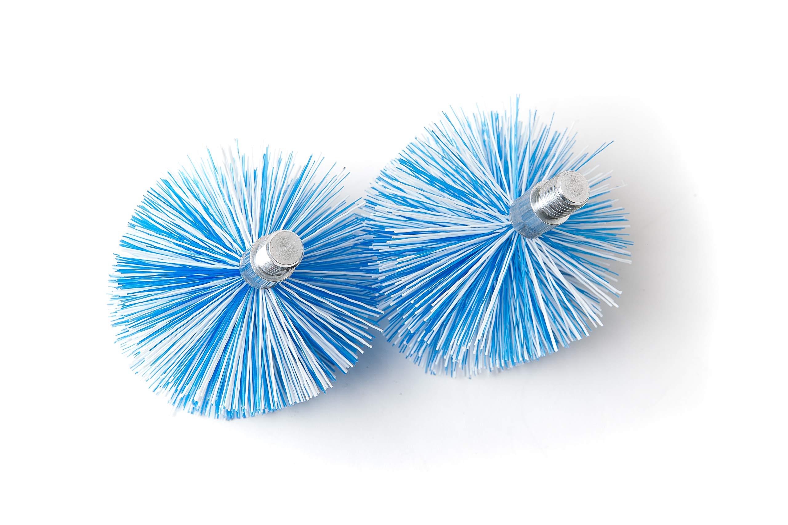 BARETTO – 2 cepillos de repuesto – Cepillos Pellet 120mm, Cepillo de limpieza de estufas de pellets y tubos de humos