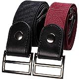 RBOCOTT Pack of 2 Elastic Adjustable Free Invisible Waist Belt for Women Men