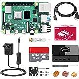 Bqeel Raspberry Pi 4 Model B 【4GB RAM+128GB MicroSD 】 RPi Barebone con Accesorios BT 5.0, Doble WiFi, Micro HDMI, Estuche, Fu