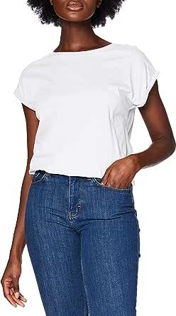 Urban Classics Ladies Extended Shoulder Tee Maglietta a Maniche Corte, T-Shirt Oversize con Spalle Scoperte, 100% Cotone Jersey, Abbigliamento Casual Donna