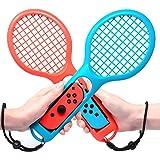 MENEEA Racchetta da Tennis per Controller Joy-con Nintendo Switch, Racchetta da Tennis in Confezione da due per Gioco di Acce