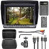 """Neewer F100 Kit con Monitor da Campo per Videocamera: 7"""" Ultra HD 1280 x 800 IPS Monitor da Campo + Batteria di Ricambio…"""