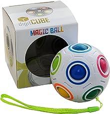 Magic Ball - Regenbogen Puzzle Zauberball für Kinder Erwachsene - Fidget Cube Ball Spielzeug für Konzentration Geschick gegen Stress