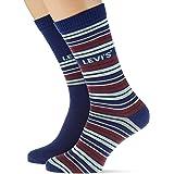 Levi's Stripe Regular Cut Socks (2 Pack) Calcetines (Pack de 2) Unisex adulto