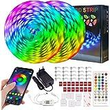 ERAY Ruban LED Bluetooth 20M, Bande Lumineuse RGB LED 5050 RGB Multicolore Avec Télécommande/APP Contrôle/Peut-Découpé/Foncti