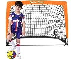 Dimples Excel Football Goal Pop up Football Net Post for Kids Garden Football Training 1 Pack