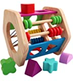 Toyshine Wooden Cage with Abacus, Shape Sorter and Color Learning Educational Series Toy