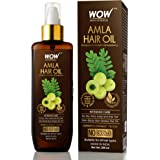 WOW Skin Science Amla Hair Oil - Pure Cold Pressed Indian Gooseberry Oil - Intensive Hair Care - Non-Sticky & Non-Greasy - No