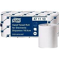 Tork Hand towel roll for electr. disp.2-ply,white,144.3mx19.3cm, 6 rolls/pack 471113