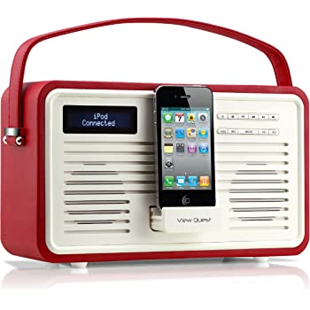 View Quest Retro ColourGen DAB+ Radio with 30 Pin Dock - Red
