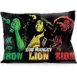 "DoubleUSA Bob Marley Pillowcases Both Sides Print Zipper Pillow Covers 20""x30"""
