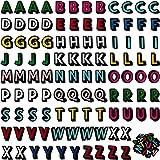 Repasser sur des Patchs de Lettres Patchs Alphabet de Coudre Patchs de Lettres Tissu Patch Brodé Lettre A-Z pour Chapeaux, Ve