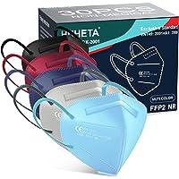 HUHETA FFP2 Maske Schwarz Weiß, EU CE zertifizierte Masken nach EN149:2001+A1:2009, 5-Lagen-Atemschutzmaske, Einzeln…