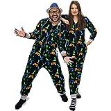 NOROZE Men's Boys Gaming Onesie, Unisex Kids Pyjamas All in One, Family Pj Jumpsuit, Gamer Loungewear Sleepsuit, Sleepwear Gi