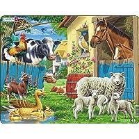 Larsen FH23 Les Animaux domestiques dans Une Ferme Confortable, Puzzle Cadre avec de 23 pièces