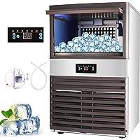 Z ZELUS Machine à Glace Commerciale de avec Capacité de 88 kg, Machine à Glaçons Électronique 400W-500W 5X11/55 pcs…