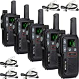 Retevis RB618 Walkie Talkie Recargable, PMR446 sin Licencia 16 Canales, Doble PTT, Linterna LED, VOX Mains Libres, SCAN CTCSS
