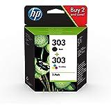 HP 303 3YM92AE, Negro y Tricolor, Cartuchos de Tinta Originales, Pack de 2, compatible con impresoras de inyección de tinta H