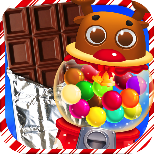 Chocolate Christmas Candy & Bubble Gum - Kids Holiday Xmas Dessert Maker Games FREE Holiday Dessert