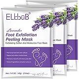 Mascarilla Exfoliación de Pies 3 PACK - Exfoliantes Calcetines Exfoliante Pies Máscara Pies Foot Mask - Quita Cutículas y Cal