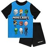 Minecraft Pijamas de Manga Corta para niños Steve and Creeper