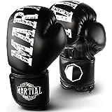 MARTIAL Boxhandschuhe aus bestem Material für lange Haltbarkeit! Kickboxhandschuhe für Kampfsport, MMA, Sparring und Boxen mit optimaler Schlagdämpfung. Handschuhe mit hohem Tragekomfort inkl Beutel!