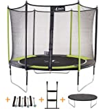 Kangui - Trampoline JUMPI Pop- Ø 305-360 - 430 cm + Filet + Échelle + Bâche de Protection + Kit d'ancrage