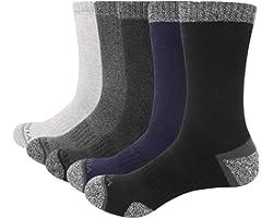 YUEDGE 5 Pairs Men's Athletic Sports Walking Hiking Socks Breathable Cushion Crew Socks UK Size 6-12