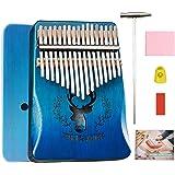 BelonLink Kalimba 17 Clés Pouce Piano, avec instructions d'étude, Tuning Hammer, Portable sac, bois Acajou, Haute Qualité pou