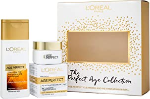 L'Oreal Paris Skin Expert Age Perfect Cleanse and Moisturise Gift Set for Her