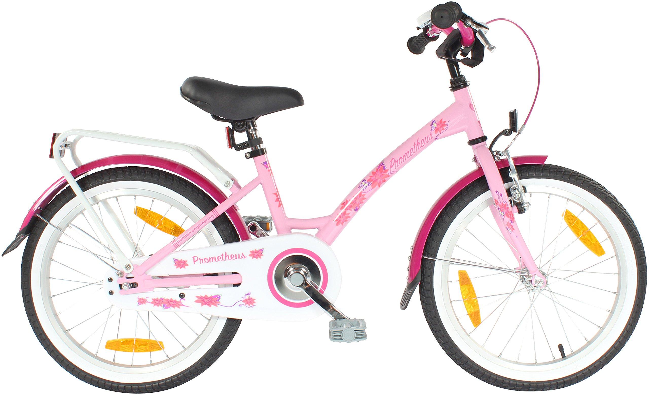 Dettagli Su Prometheus Bicicletta Per Bambina Da 18 Pollici In Rosa Lilla E Bianco A7c