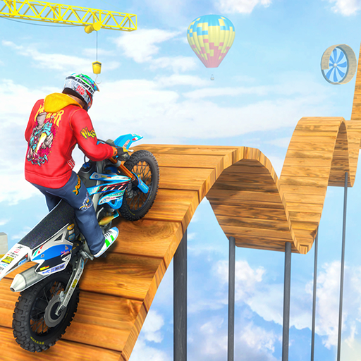 Trail Bike Racing Game Stunts Master: Tricky Ramp Bike Crazy Racing 3D -