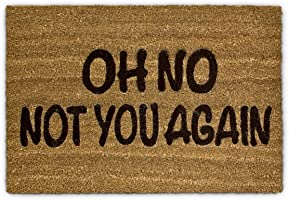 Relaxdays Paillasson fibre de coco Oh No Not You again Tapis de sol porte entrée accueil Fibre de coco 60 x 40 cm...