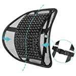 ACVCY Lumbar Mesh Support for Office Chair or Car Seat,Breathable Comfortable Lumbar Support Cushion with Adjustable...