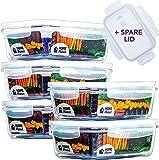 Home Planet Recipient en Verre   Boîtes Alimentaires en Verre   Lot de 5 840 ML   97% d'emballages en Plastique enlevés…