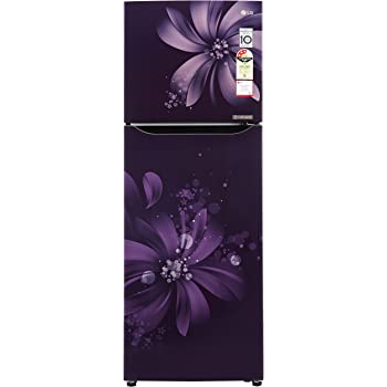 LG 255 L 3 Star Frost Free Double Door Refrigerator(GL-Q282SPAM, Purple Aster, Inverter Compressor)