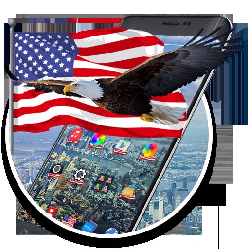 American Eagle & Flag 2d (free)Theme (Flag American Eagle)