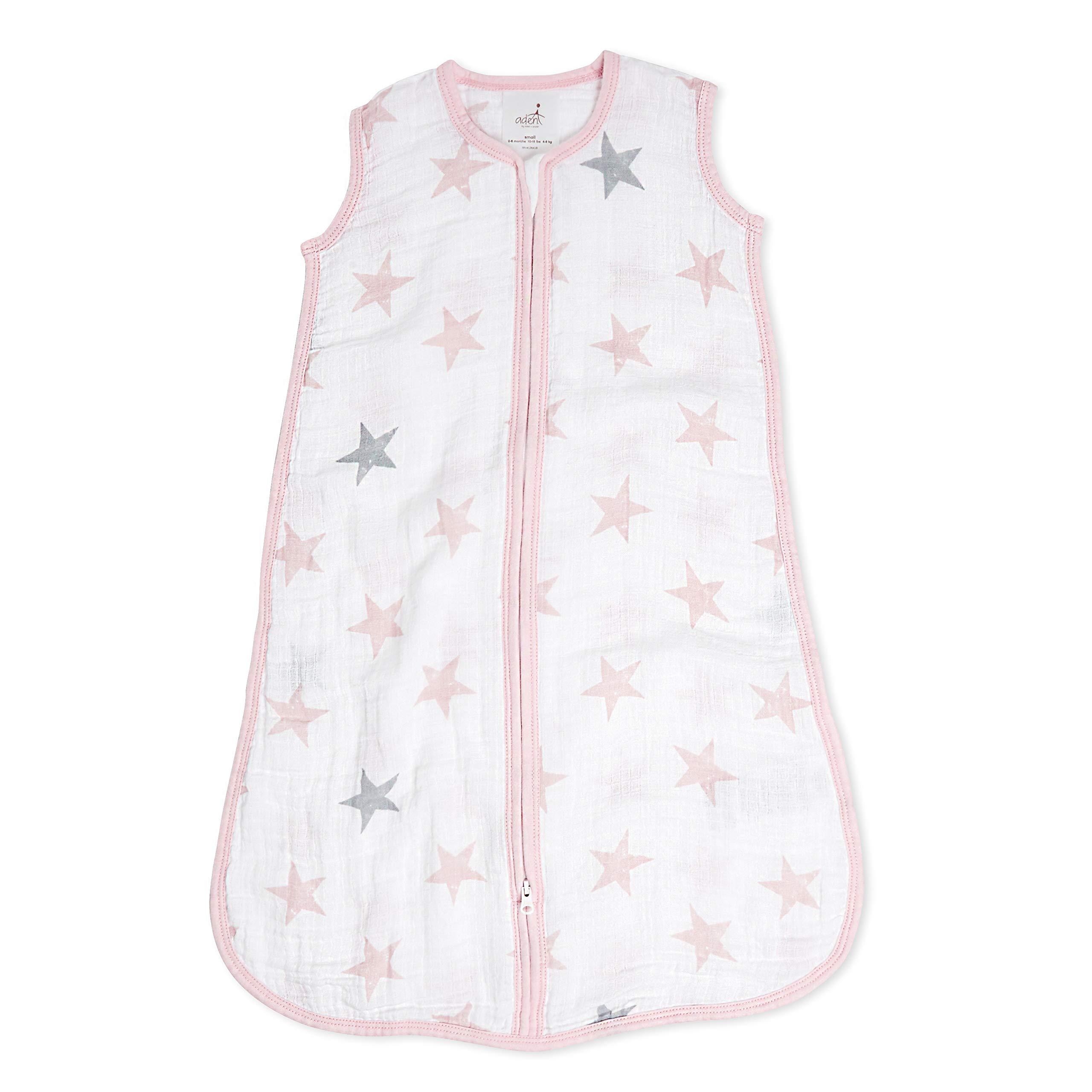 aden by aden + anais saco de dormir, 100% muselina de algodón, 1.0 TOG , muñeca – estrellas, 6-12 meses