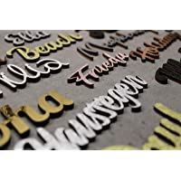 personalisierter Schriftzug aus Holz verschiedene Größen beeindruckende Farben Geschenk für Mann, Frau, Kind, Baby, zur…