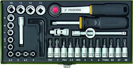 Proxxon 23080 Steckschlüsselsatz 1/4 Zoll, 36-teilig