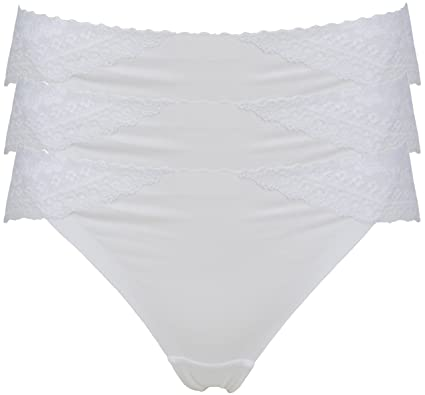 717c6ee45c Ex Store Cotton Rich Lace Trimmed Brazilian Knickers  Amazon.co.uk  Clothing