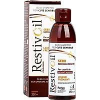 Restivoil Fisiologico Sebonormalizzante Olio-Shampoo per Cute Sensibile e per Capelli Normali e Grassi, Senza Agenti…