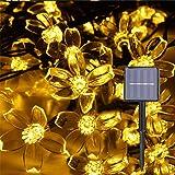 Herefun Giardino di Fiori Luci Fata, Catena Luminosa Solare Esterno 7M 50LED Stringa Esterno Impermeabile Illuminazione per G