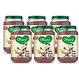Olvarit Appel Yoghurt Bosbes - fruithapje voor baby's vanaf 12+ maanden - 6x200 gram babyvoeding in een fruitpotje