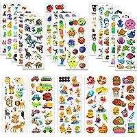MOKIU 3D Autocollants Stickers pour Enfants 3D Stickers 450+pièces, 3D en Relief, 20 Feuilles Autocollants de Variétés…