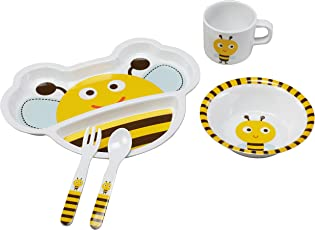 Luvlap Bumble Bee Melamine Cutlery, Multicolor