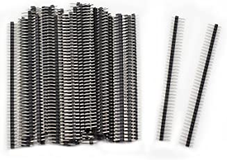 Aussel 50 Stück 40 Pin Header Connector 2.54mm Einreihiger Stiftleistenstreifen (PIN-1 50PCS)