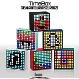 Divoom® Timebox ist EIN intelligenter, mobiler Bluetooth LED Lautsprecher (schwarz)