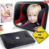 Autospiegel, achterbankspiegel met 6 delen, universele autospiegel, babyspiegel voor baby's in de auto, kinderstoel, hoogwaar